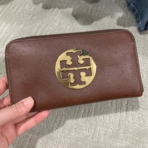 Brown Tory Burch Wallet